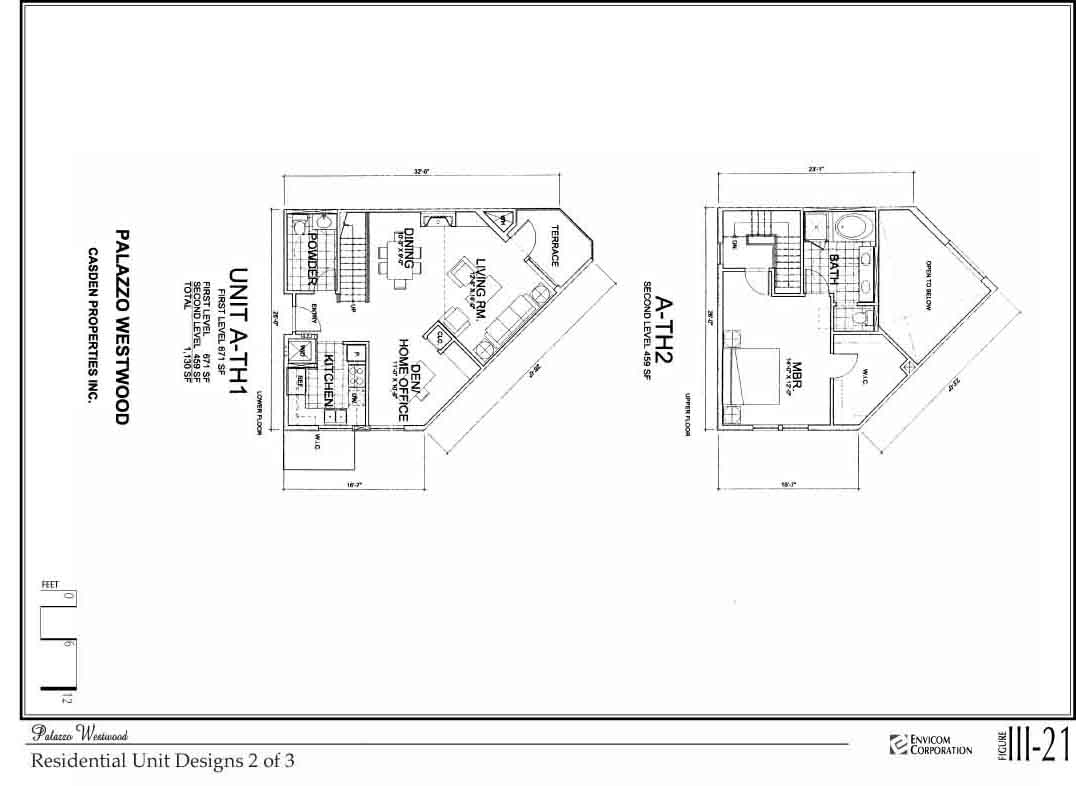 Figure iii 19 location of ground floor retail space below grade cross section 76k · figure iii 20 residential unit designs 1 of 3 144k