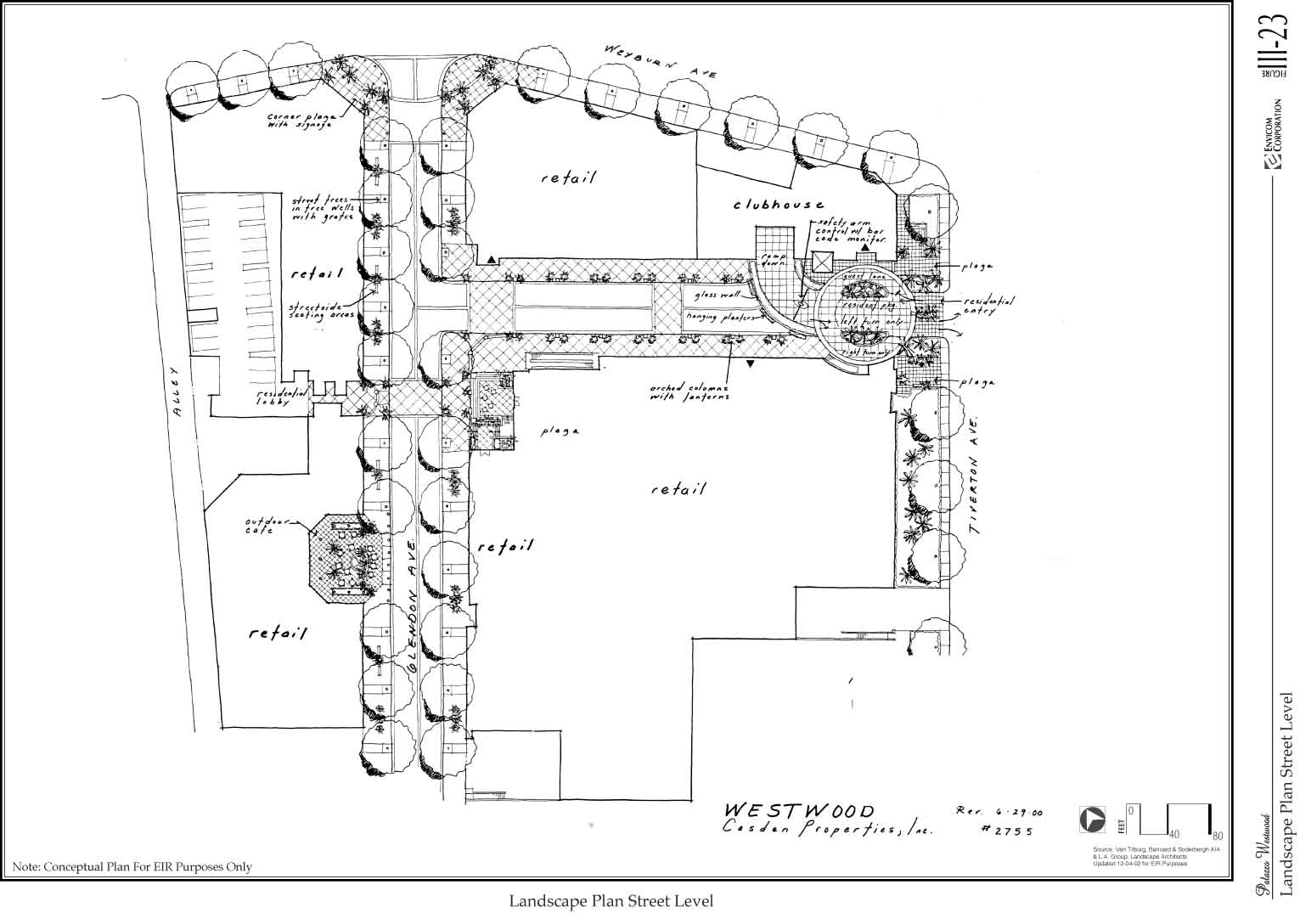 Palazzo Westwood Project Draft Eir Rh Planning Lacity Org Architecture Diagram Simple Landscape Design Plans