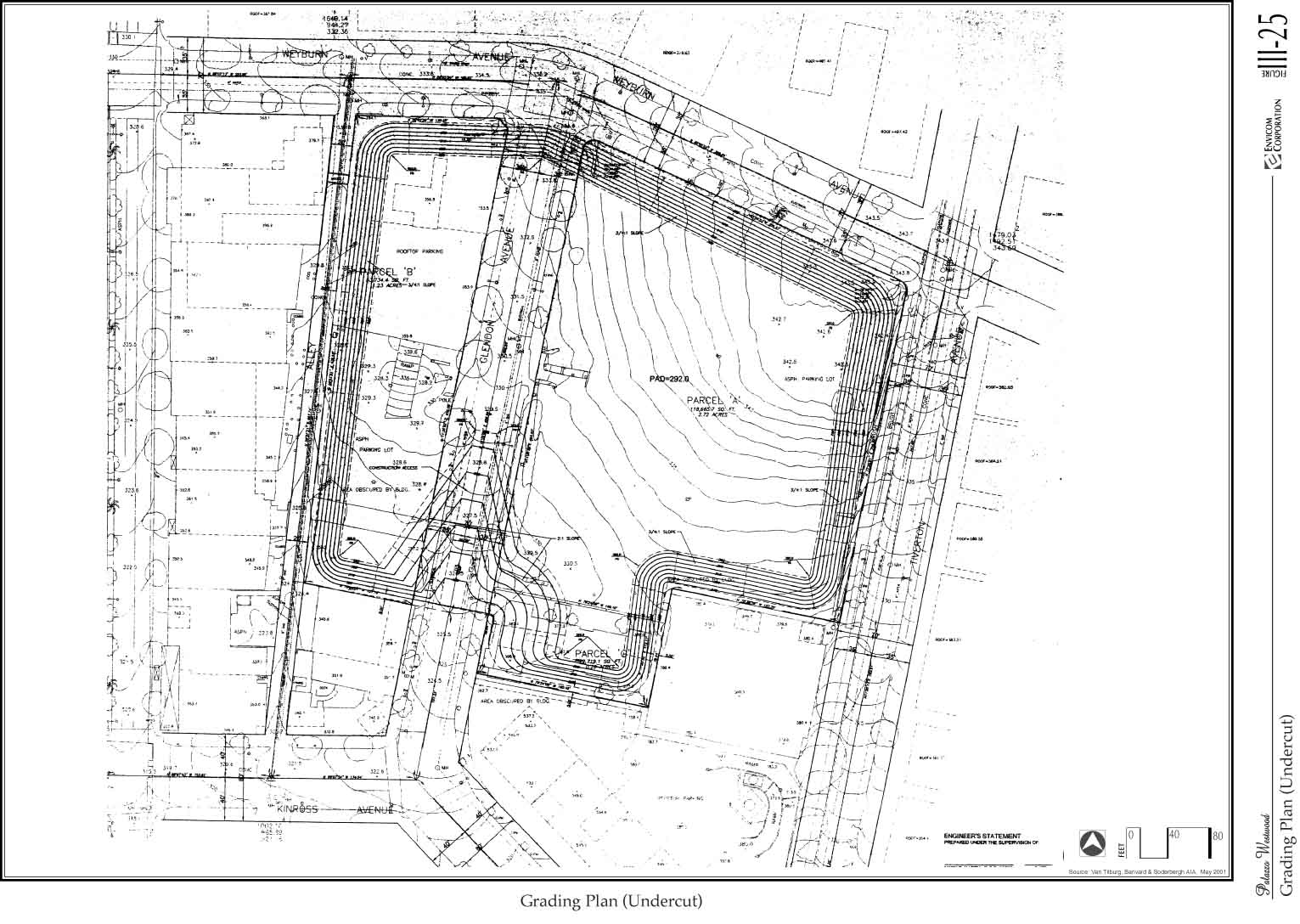Palazzo Westwood Project Draft EIR – Site Grading Plan