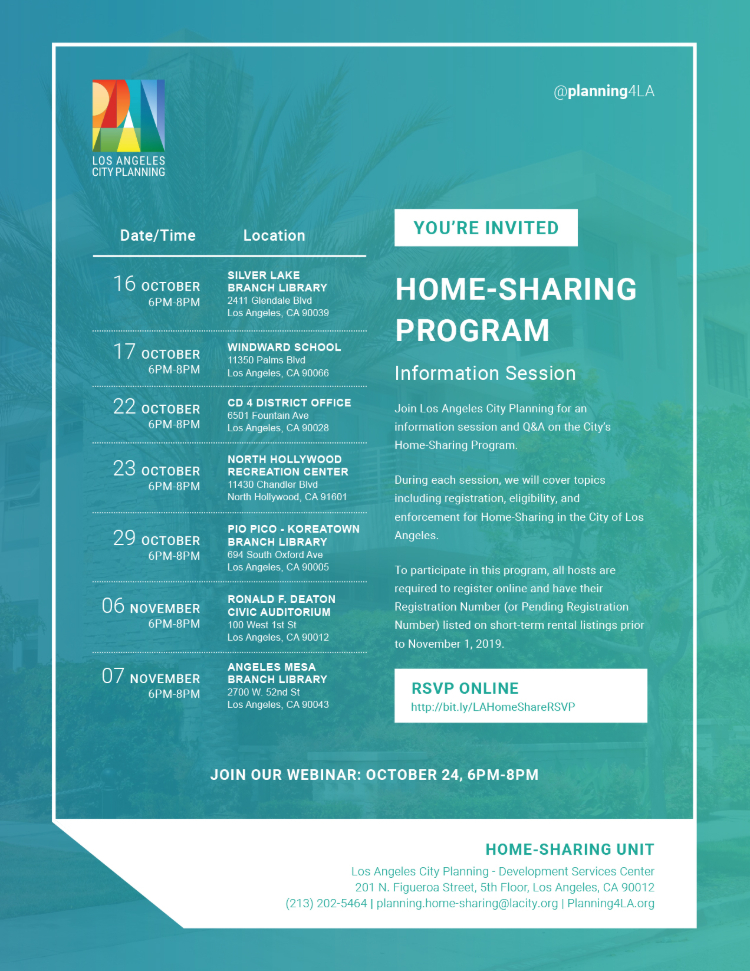 Home-Sharing flyer