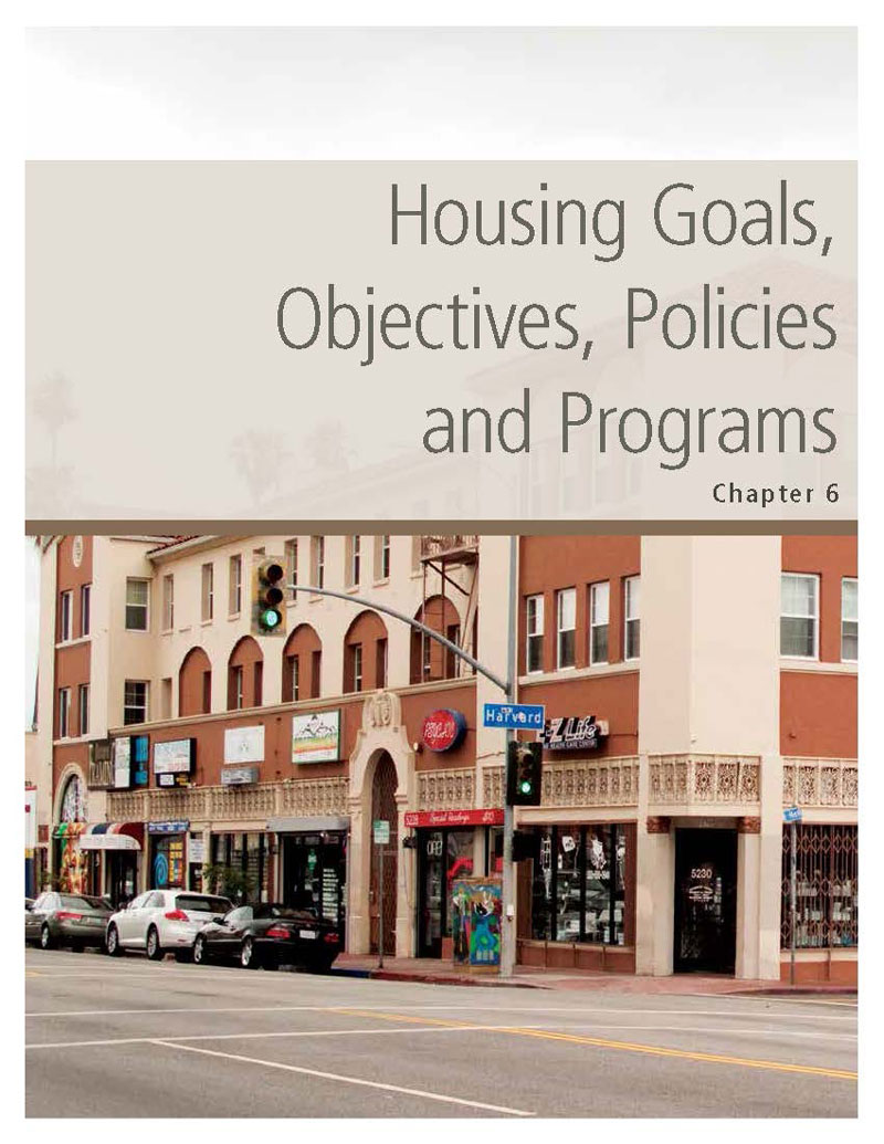 Chapter 6. Housing Goals, Policies, Objectives and Programs